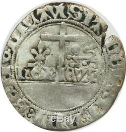 O7416 Very Rare! Henry VI To Ecu White Crescent Chalons-en-champagne