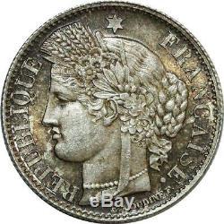 O8923 Very Rare 50 Centimes Ceres 1851 A Paris Pcgs Ms65 Silver Fdc