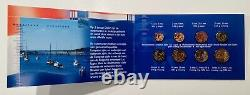 Official Miniset Set 8 Coins Bu Euro 2002 Netherlands Format 1/2 Very Rare