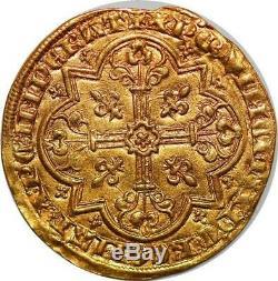 P3370 Very Rare Sheep Golden John II 1350-1364 Gold Gold Au