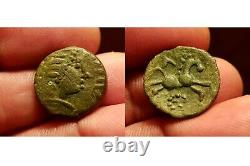 Pictons, Bronze Viretios, Celtic Coin, Poitiers Ttb, Very Rare