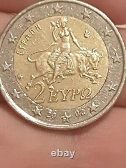 Piece 2 Euro Of 2002 With The Very Rare S