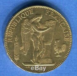 Piece Rare 100 Gold Francs Beautiful 1881