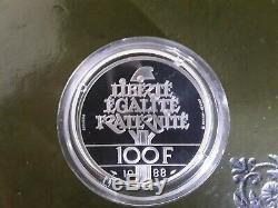 Piedfort Proof 100 Francs Brotherhood 1988 Very Rare