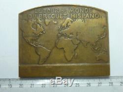 Plate Bronze Medal Costes-brix The World Tour Bréguet Spanish Very Rare