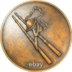 R1962 Very Rare Medal Art Deco Dancer Doves Aulos 1926 Turin No.26/50 Sup