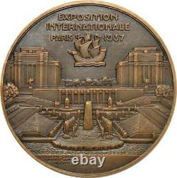 R2015 Very Rare Medal Art Deco International Exhibition 1937 Jean Vernon Sup