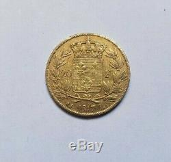 Rare And Beautiful Piece Of 20 Francs Or 1817 L Louis XVIII