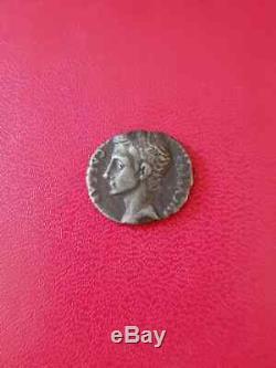 Rare Denier Augustus Shield Colonia Patricia