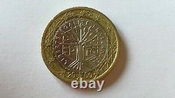 Rare Piece 1 Euro France Peace Tree 2000 Very Good State
