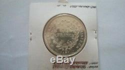Rare Piefort 50 Francs Hercule 1977 Silver 465 Ex Piedfort 60 Grams