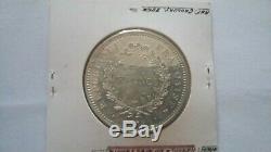 Rare Piefort 50 Francs Hercule 1979 Silver 2250 Ex Piedfort 60 Grams