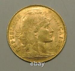 Rare Rare Sup 10 Francs Or Type Coq 1900 Year Very Hard To Find