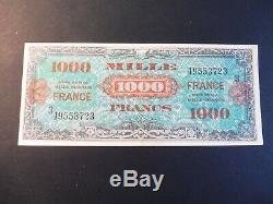 Rare Very Nice Tickets 1000 Frs France Landing Ttb 1945 / Sup Rare