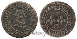 Royal Currencies Double Tournaments 1579 - Deniers 1624 O Riom Very Rare