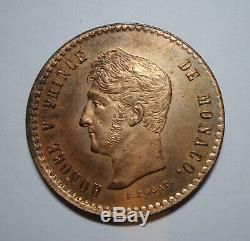 Rrr Monaco Very Rare Proof Test 5 Centimes 1838 MC Honoré V Quality