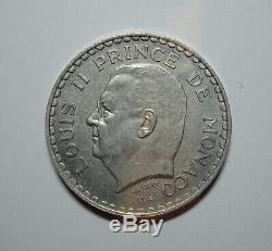 Rrr Monaco Very Rare Test 5 Francs 1945 Louis II Alu Spl