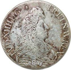 S652 Very Rare Louis XIV Shield Tie 1679 9 Rennes Magnificent Portrait Silver