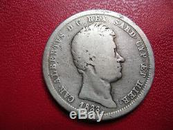 Sardinia. Very Rare 2 Lire 1833 Charles Albert Genoa. 187 Copies