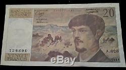 Seriea. 026.20frs Debussy 1989 Rare Alphabet A. 026