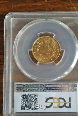 Slavée Ms 64 20 Francs Or Genie 1877 A Very Rare Condition