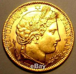 Spl / Fdc! Very Rare Exhibit 10 Francs Francs Or 1851 A Ceres II Rep
