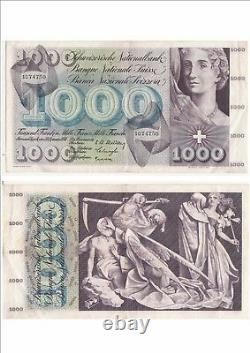 Suisseland Swiss Schweiz 1000 Frs 30-09-1954 Very Rare Condition See Scan