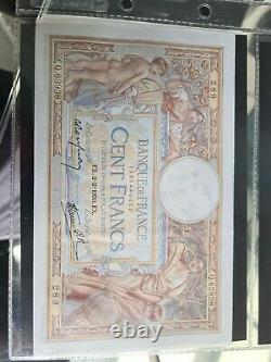 Suite Ticket 100 Francs Merson 2-2-1939 Tres Rare In The State