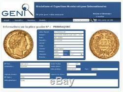 Superb 10 Francs Or Ceres 1851 A Sup Certified Geni Au55 Rare