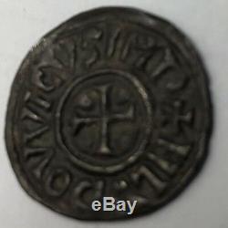 Superb Denier Of Louis The Pious Workshop Toulouse Rare France 814-840
