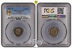 Superb Half Franc 1807-a 1/2 Fr Gad-397 African Type Pcgs Au55 Very Rare