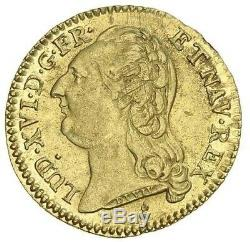 Superb Louis XVI Golden Louis 1787 Aa Metz 2nd Week Very Rare Brilliant Typing