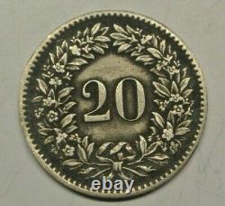 Switzerland 20 Rappen 1851 Bb Ttb A Suprest Rare