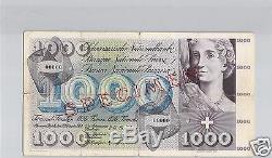 Switzerland Specimen 1000 Francs 30.9.1954 Pick 52 A Very Rare