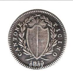 Switzerland Ticino Very Rare 1 Franco 1813