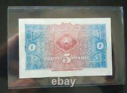 Syria / Syria 5 Piastres 1919 Sup / Xf Very Rare / Very Scarce