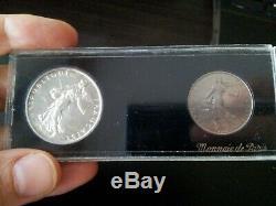 Testing Box 1959 Grand 5 Francs 5 & 1 Franc / Very Very Rare / Mint France
