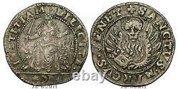 Three Rare! 10 Gazzette (lirone) Around 1571 Anonymous Venice Italy Silver