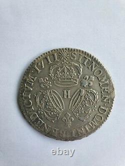 Three Rare! Ecu 1711 Louis 14 In Very Good Condition