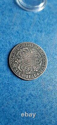 Tres Rare 1/4 Ecu Louis XIV 3 Crowns 1711 S Reims Silver Silver Mint