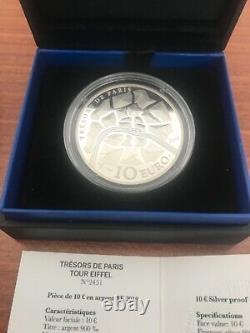 Tres Rare 10 Euro Tour Eiffel Silver Color Be France 2019 Tresors De Paris