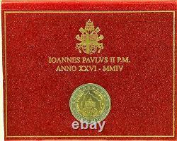 Tres Rare 2 Official Commemorative Vatican 2004 Bu75 Annive/de Le Fondation