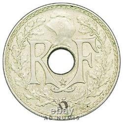 Tres Rare 5 Centimes 1938 Star Lindauer France Ttb+/sup Maillechort