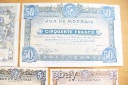 Tres Rare Ancienne Série Complete Série Bon De Monnaie Roubaix-tourcoing Sup/spl