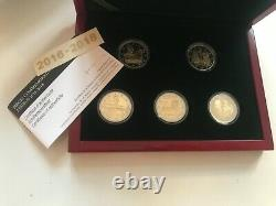 Tres Rare Coffret 2 Eur Luxembourg 2016 2017 2018 Be Proof Pointons Bridge And Lion