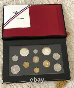 Tres Rare Complete Flower De Coins Box From 1990 - Fdc - Small Draw - English