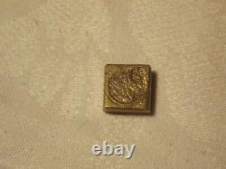 Tres Rare Monetary Weight Lilies XVIII Brass Bronze Superb Condition 6 Gr Make Offer
