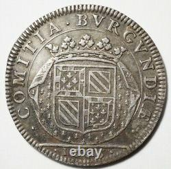 Tres Rare Silver Token Of Burgundy States 1665 No Silver List