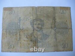 Tres Rare Ticket 20 F Chazal From 1872