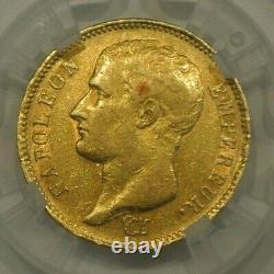 Tres Rare Ttb Rating 1700 Euro 40 Francs Gold Napoleon 1807 W Small Tiring